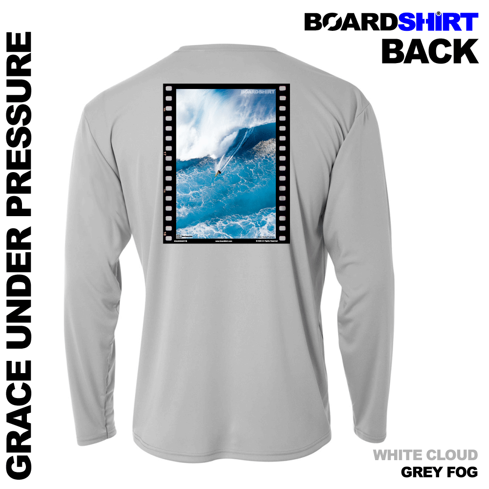 BOARDSHIRT-LS-GRY-BACK-GRACE-UNDER-PRESSURE