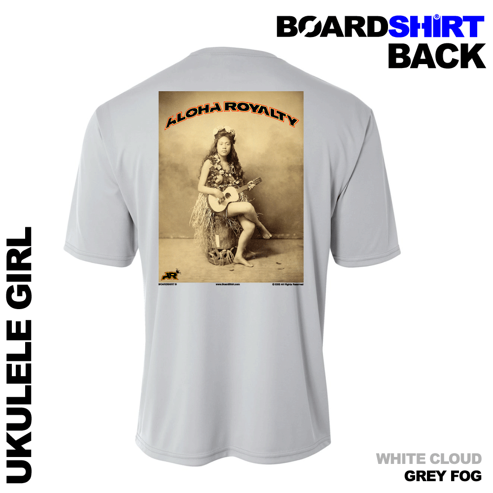 BOARDSHIRT-SS-GRY-BACK-UKULELE-GIRL