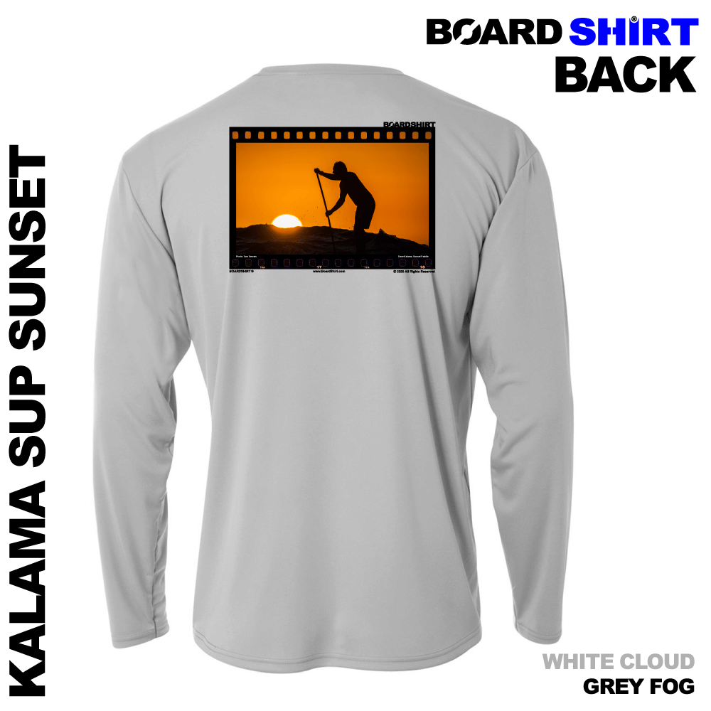 BOARDSHIRT-LS-GREY-FOG-BACK-KALAMA-SUP-SUNSET